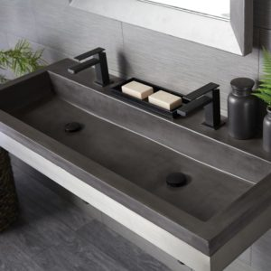 Trough 4819 Concrete Bathroom Sink in Slate (NSL4819-S)