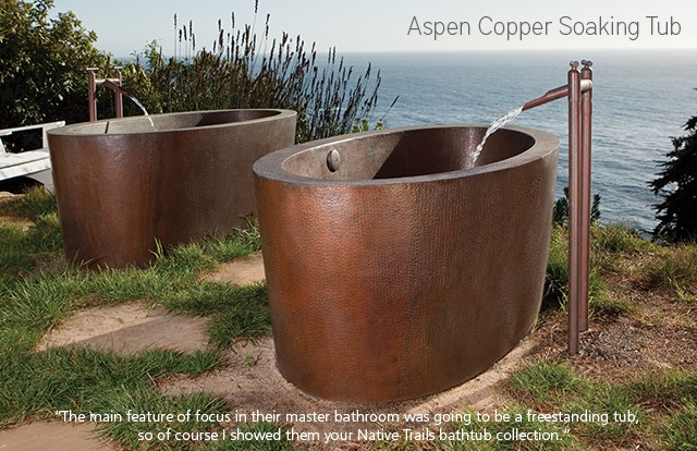 Copper Aspen Soaking Tub