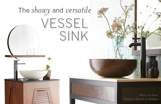 Showy and Versatile Vessel Sinks