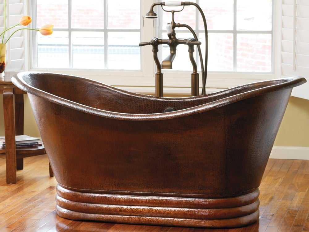 Aurora freestanding copper bathtub