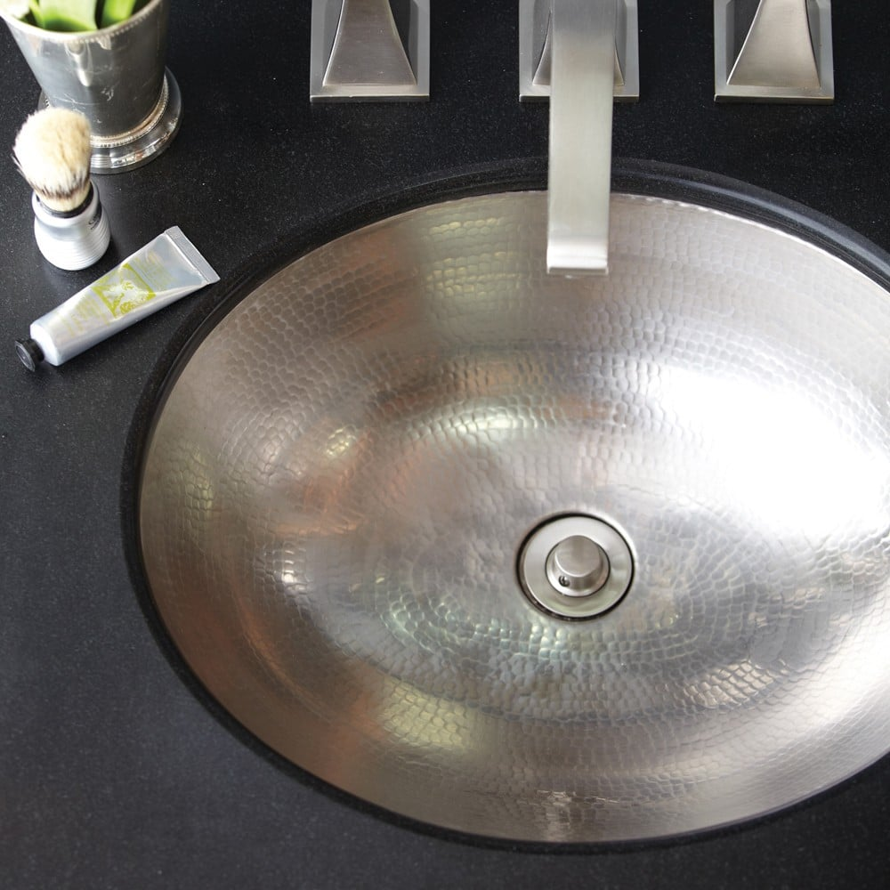 Classic brushed nickel sink