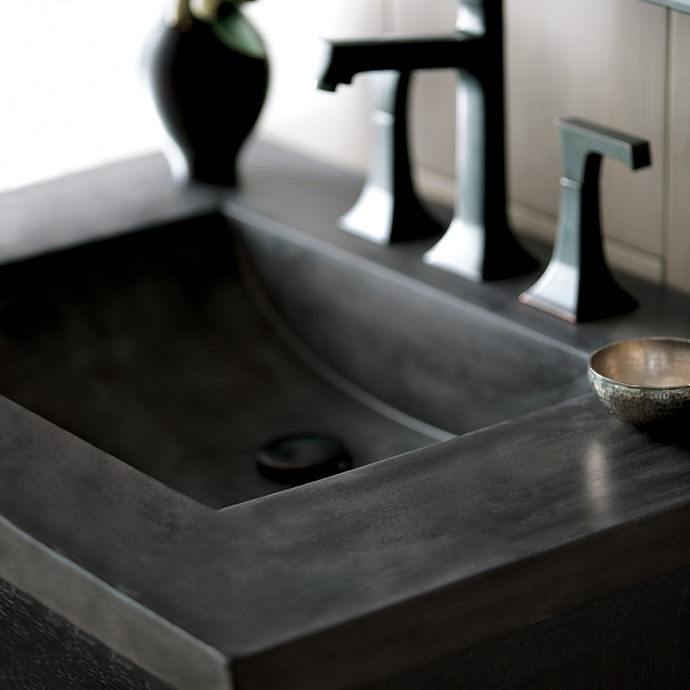 Integrated Sink: Palomar Vanity Top with Integral Sink in Slate