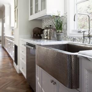 Modern Rustic Design - Farmhouse 33 Copper Sink in Brushed Nickel
