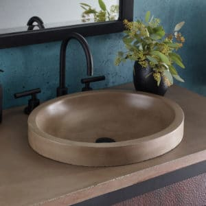 Tolosa NativeStone Bathroom sink in Earth (NSL1916-E)