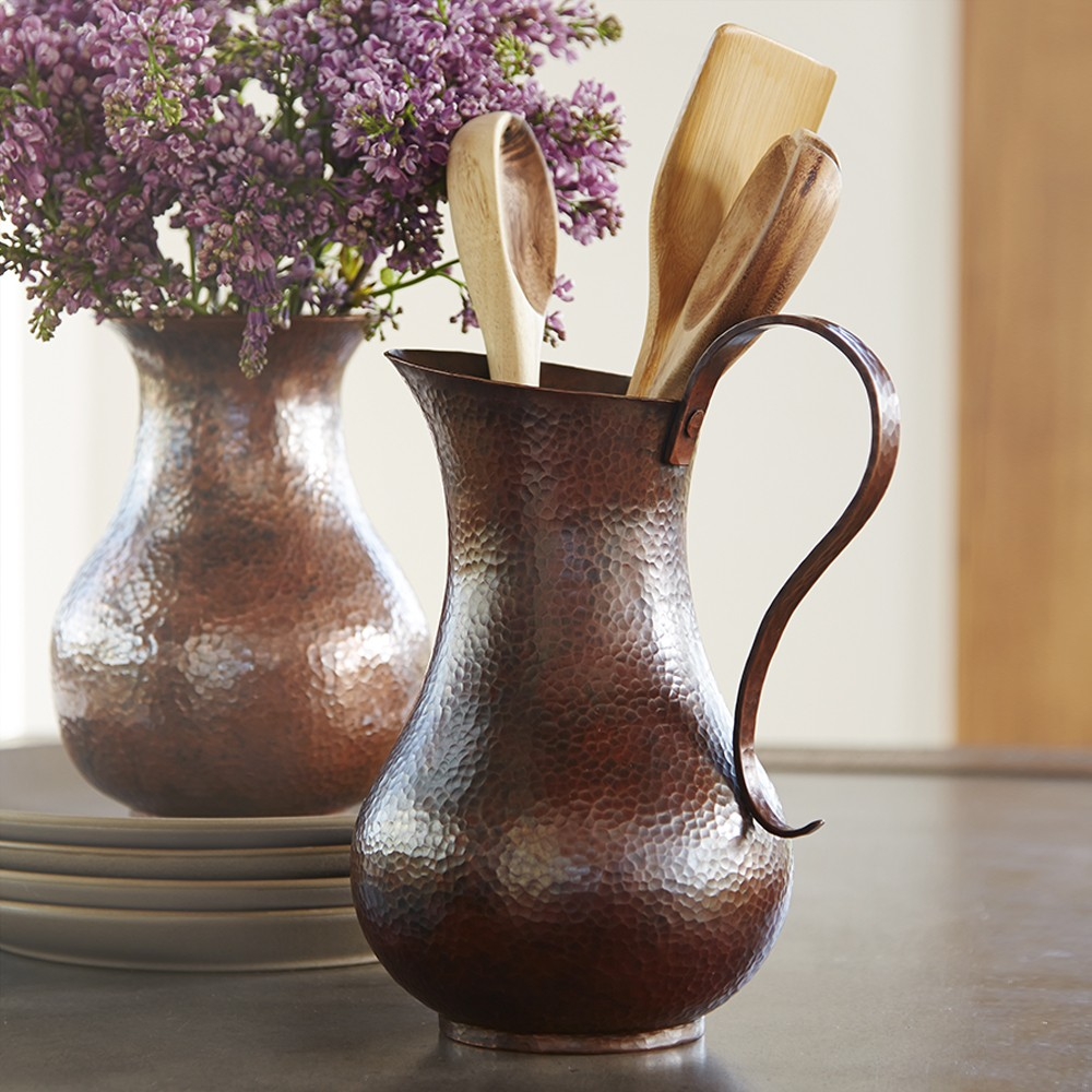 Los Olivos Copper Pitcher in Antique (CPB282)