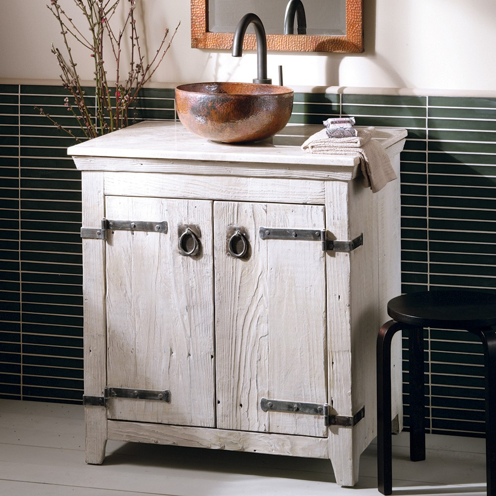"30"" Americana Bathroom Vanity Base in Whitewash (VNB300)"
