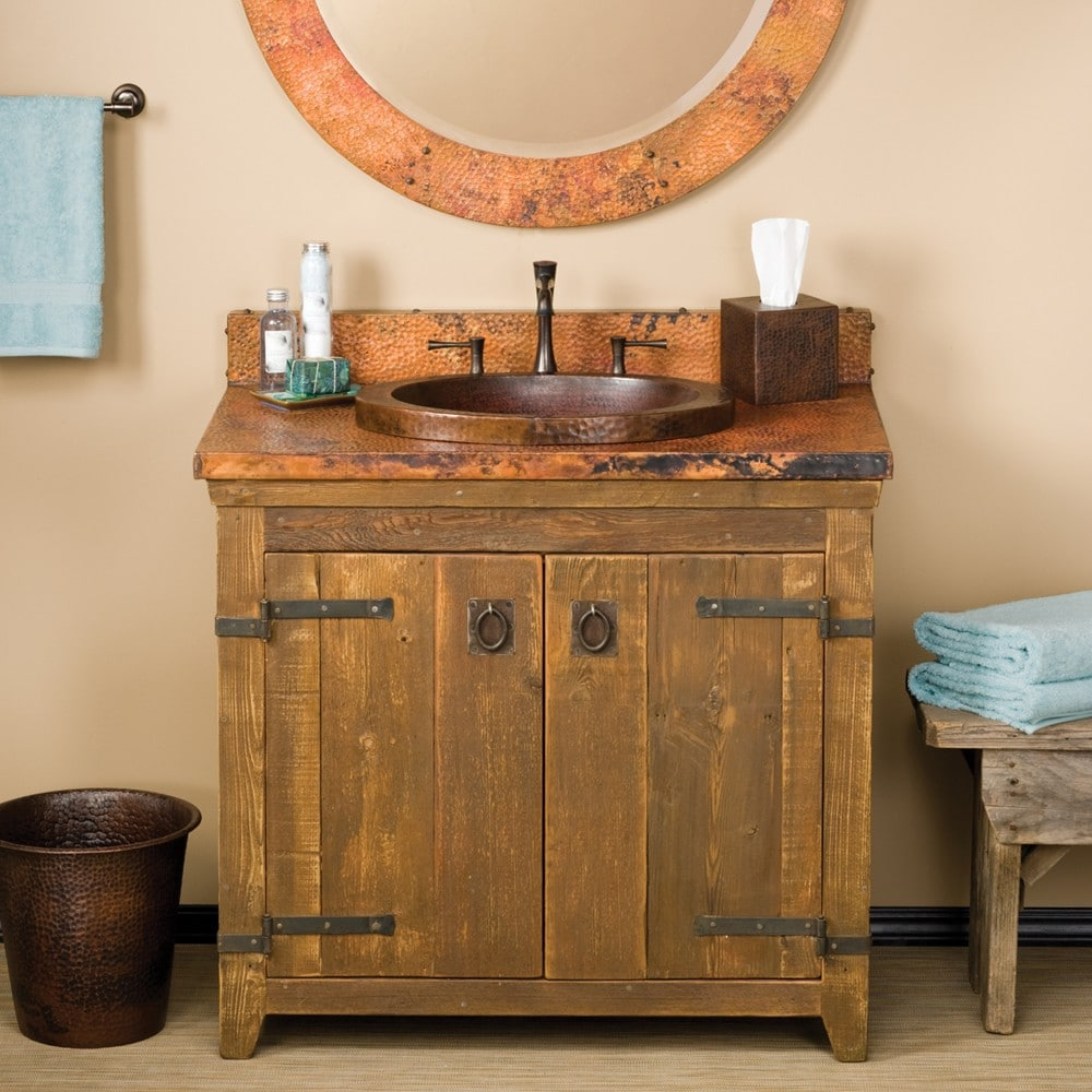 "36"" Americana Bathroom Vanity Base in Chestnut (VNB361)"