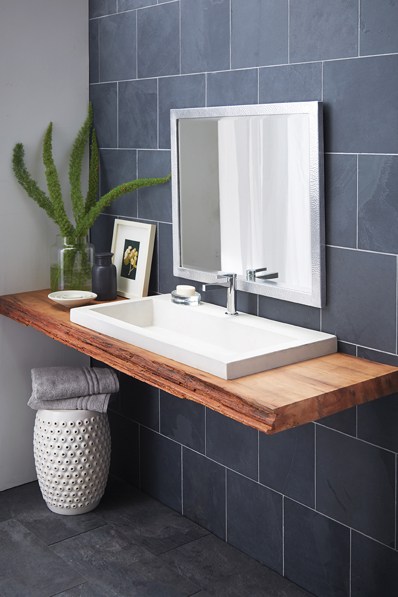 NativeStone Trough 3619 Concrete Bathroom Sink