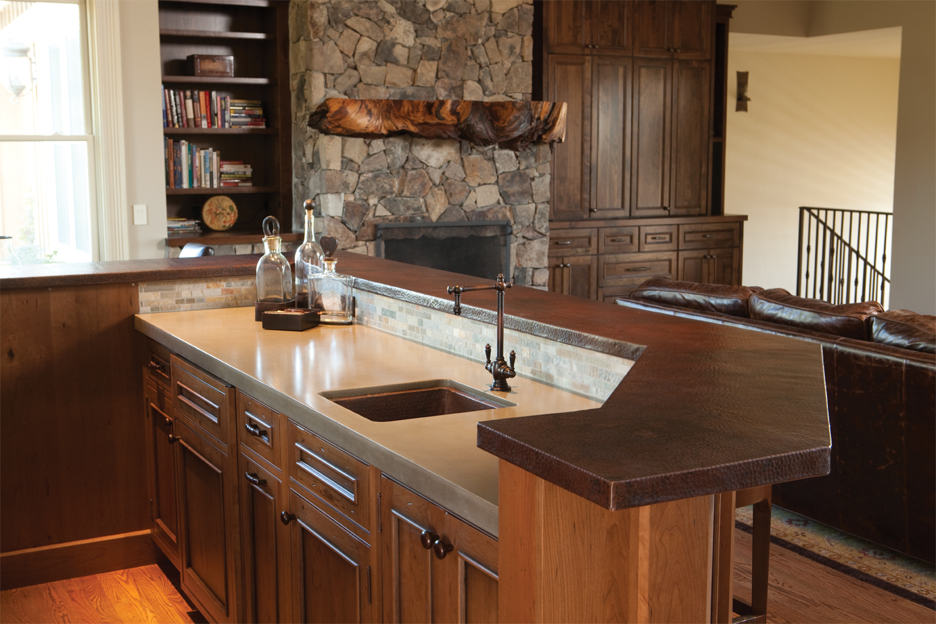 Wet Bar With Native Trails Sinks