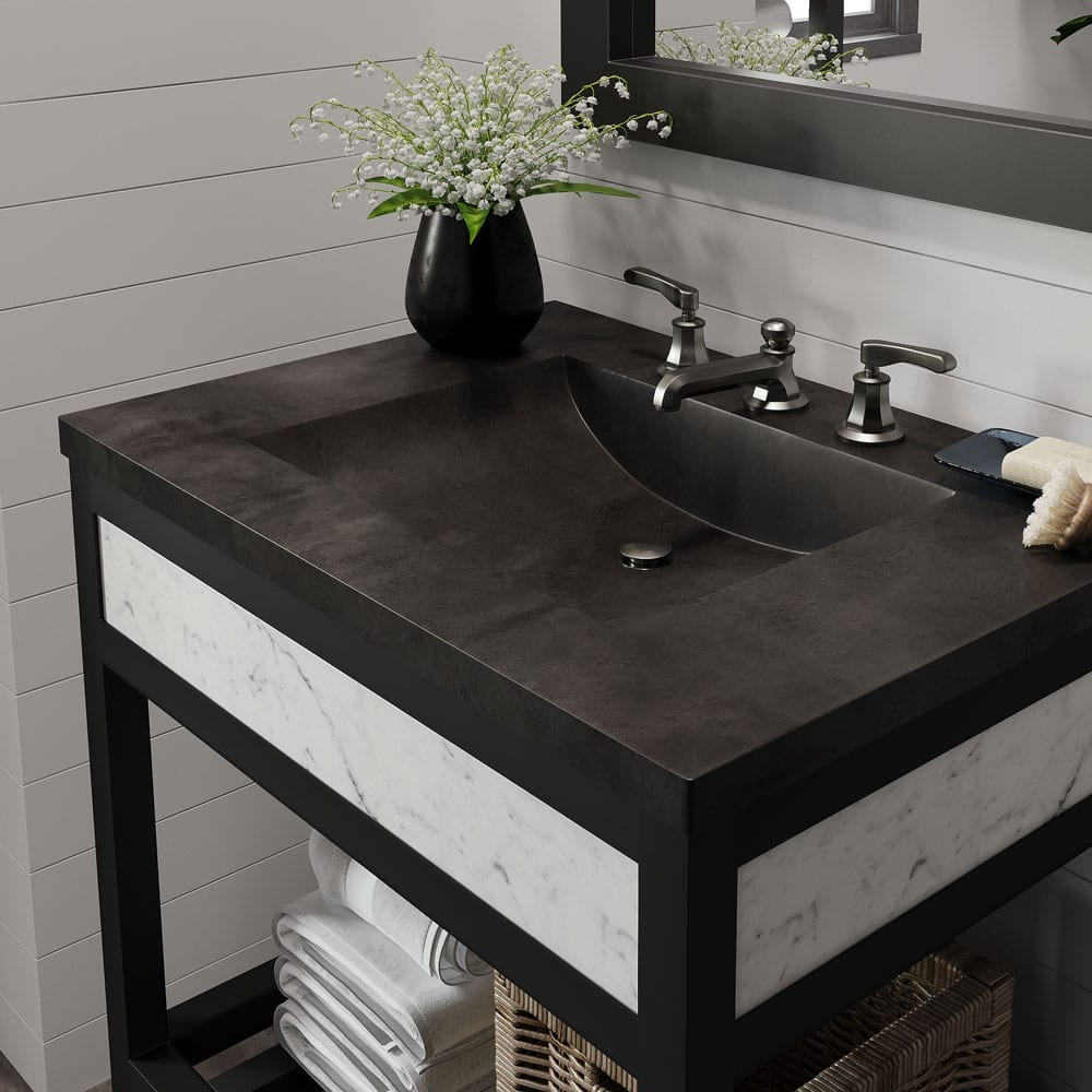 "30"" Cuzco Bathroom Vanity in Carrara (VNR306) with Palomar top"