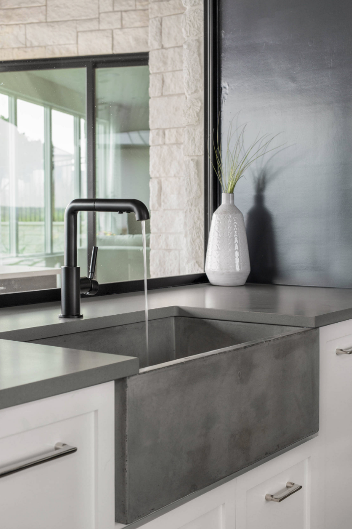 Concrete Kitchen Sink