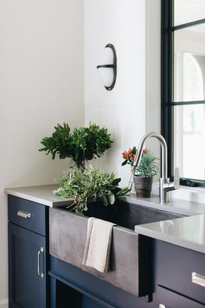 Single Bowl Sink Kitchen Design by Kate Marker Interiors