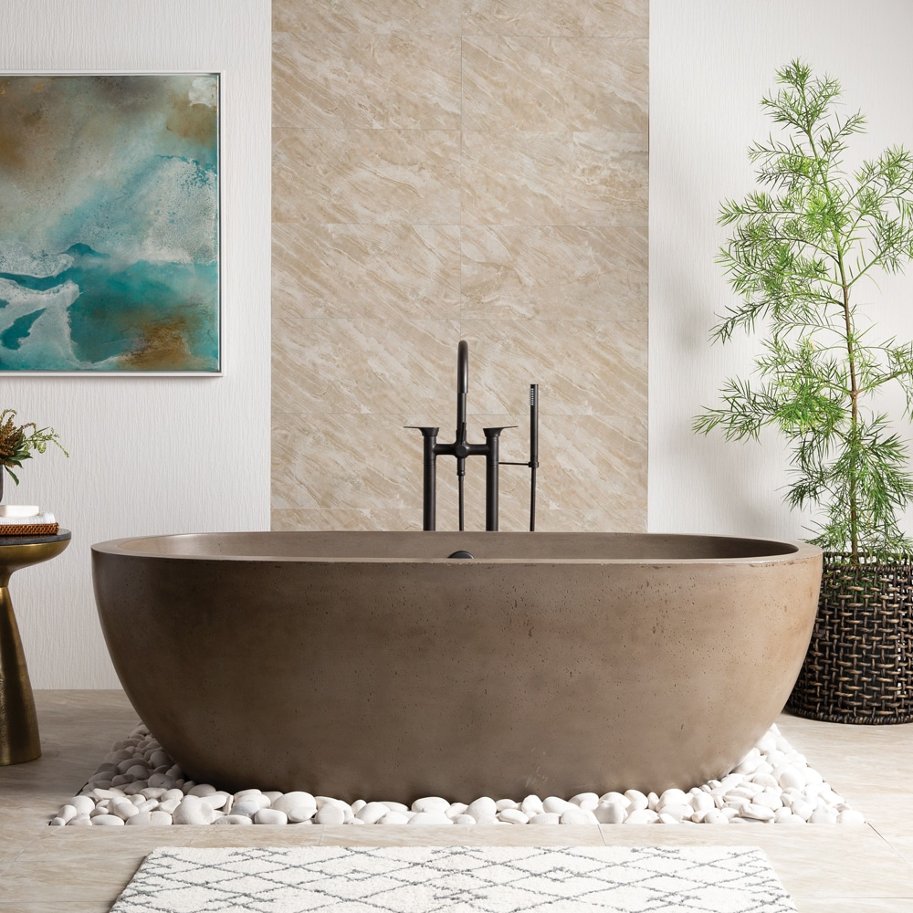 Nativestone 174 Concrete Freestanding Bathtubs Native Trails