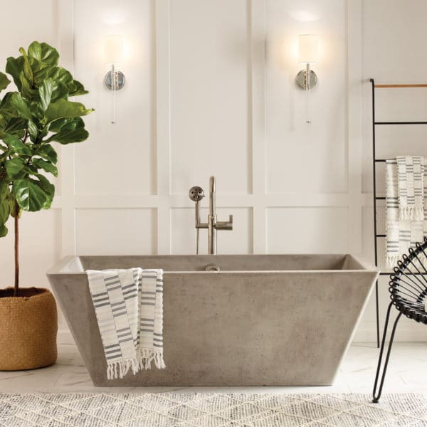 Mendocino Concrete Bathtub in Ash (NST6634-A)