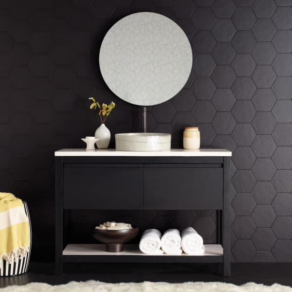 Solace Vanity Midnight with Pearl Shelf