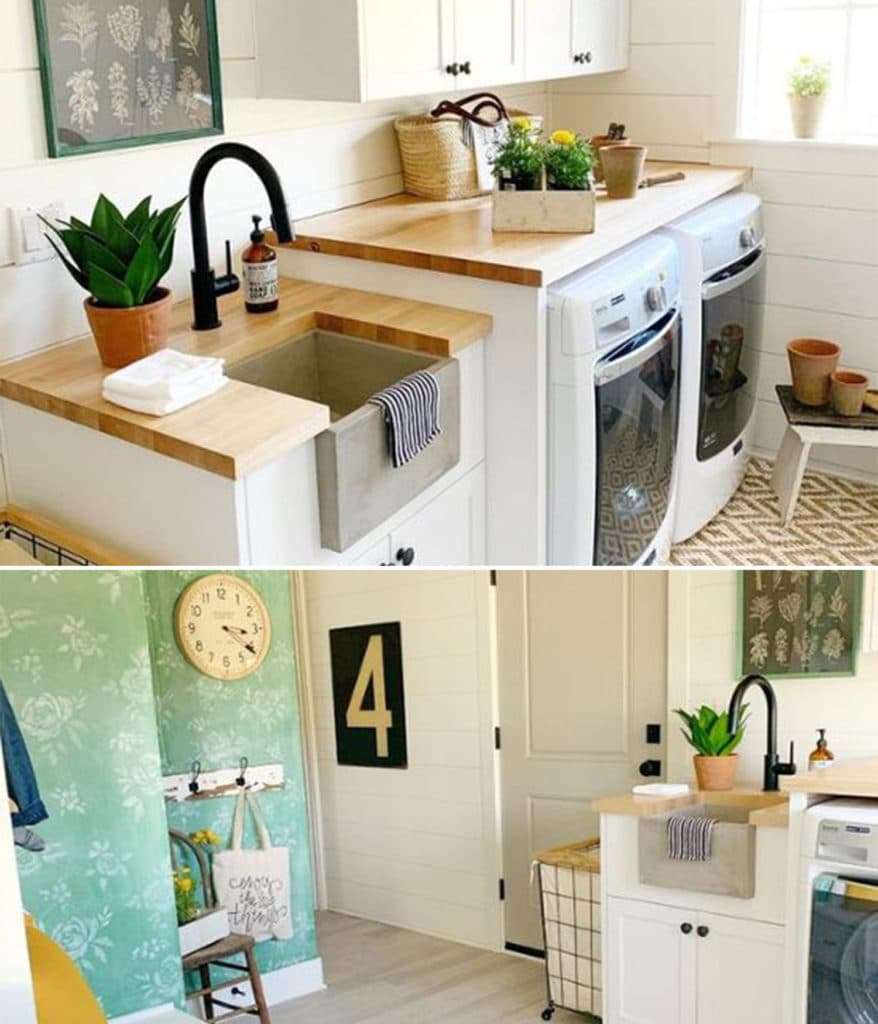 Native Trails Blog Collage - Laundry Room - Yellow Prairie Interiors