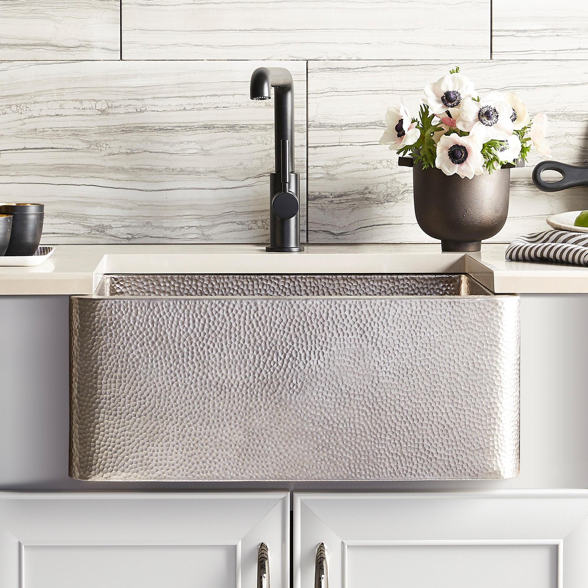 Native Trails 25 Nickel Farmhouse Sink Brushed Nickel Cpk570 The Sink Boutique