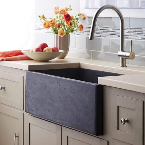 Farmhouse 3018 NativeStone Kitchen sink in Slate (NSK3018-S)