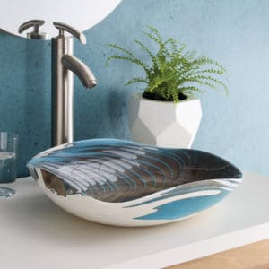 Lido Glass Vessel Sink in Shorline (MG1515-SE)