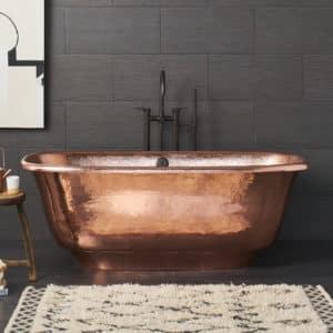 Santorini Bathtub in Polished Copper (CPS944)