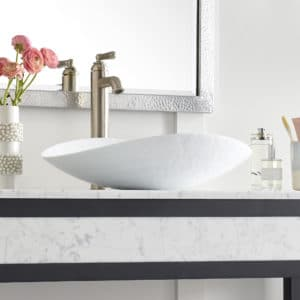 Sorrento Glass Vessel Sink in Bianco (MG2017-BO)