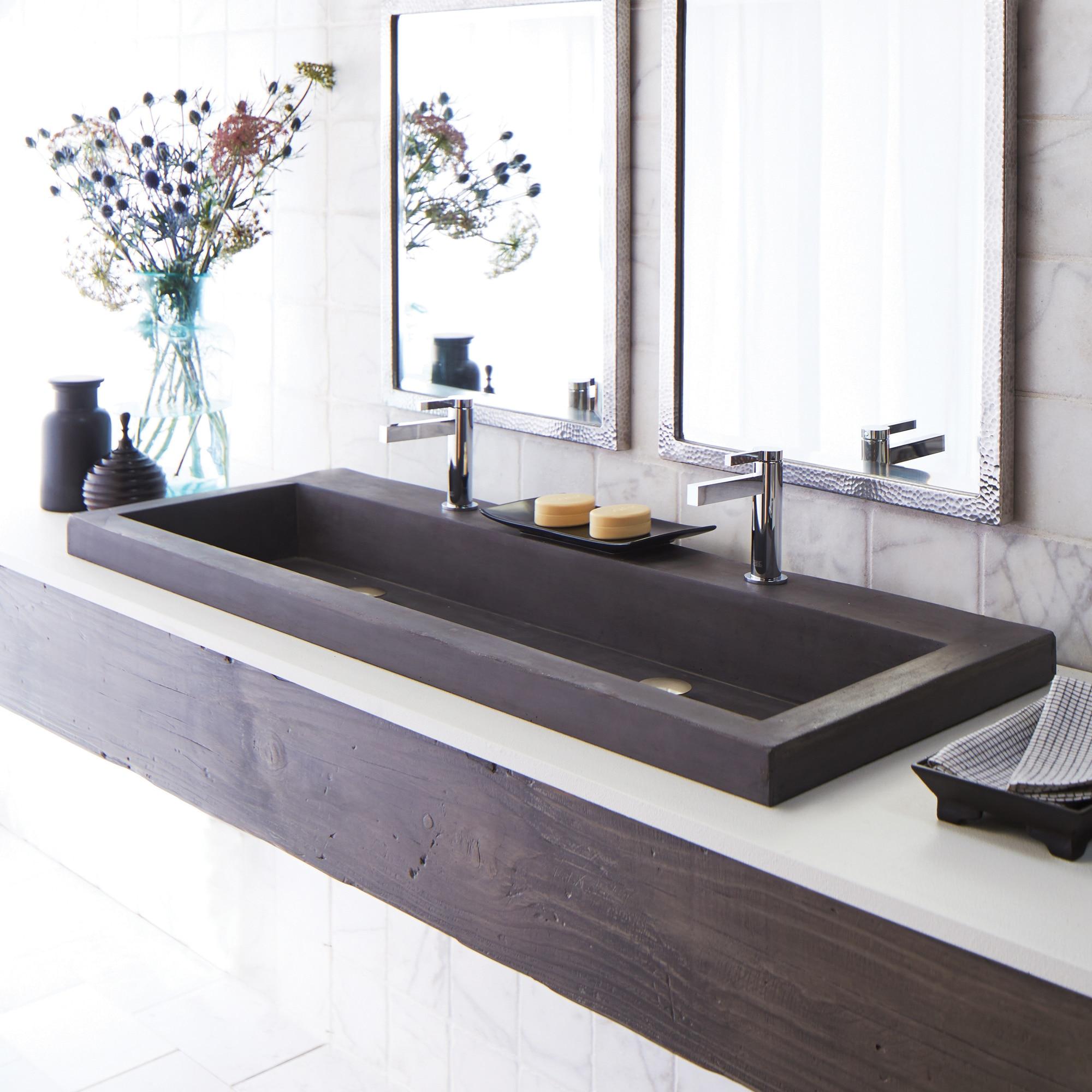 Concrete Trough Double Bathroom Sink Native Trails