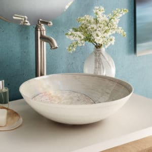Verona Glass Vessel Sink in Beachcomber (MG1717-BR)