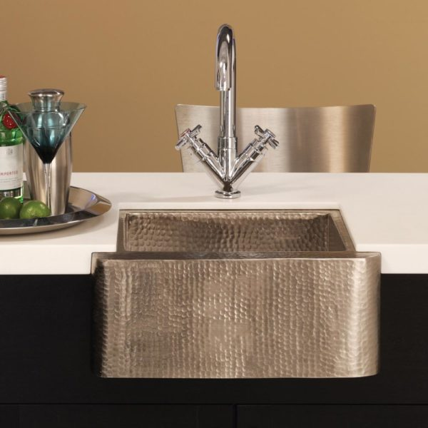 Cabana Copper Bar & Prep Sink in Brushed Nickel (CPS513)