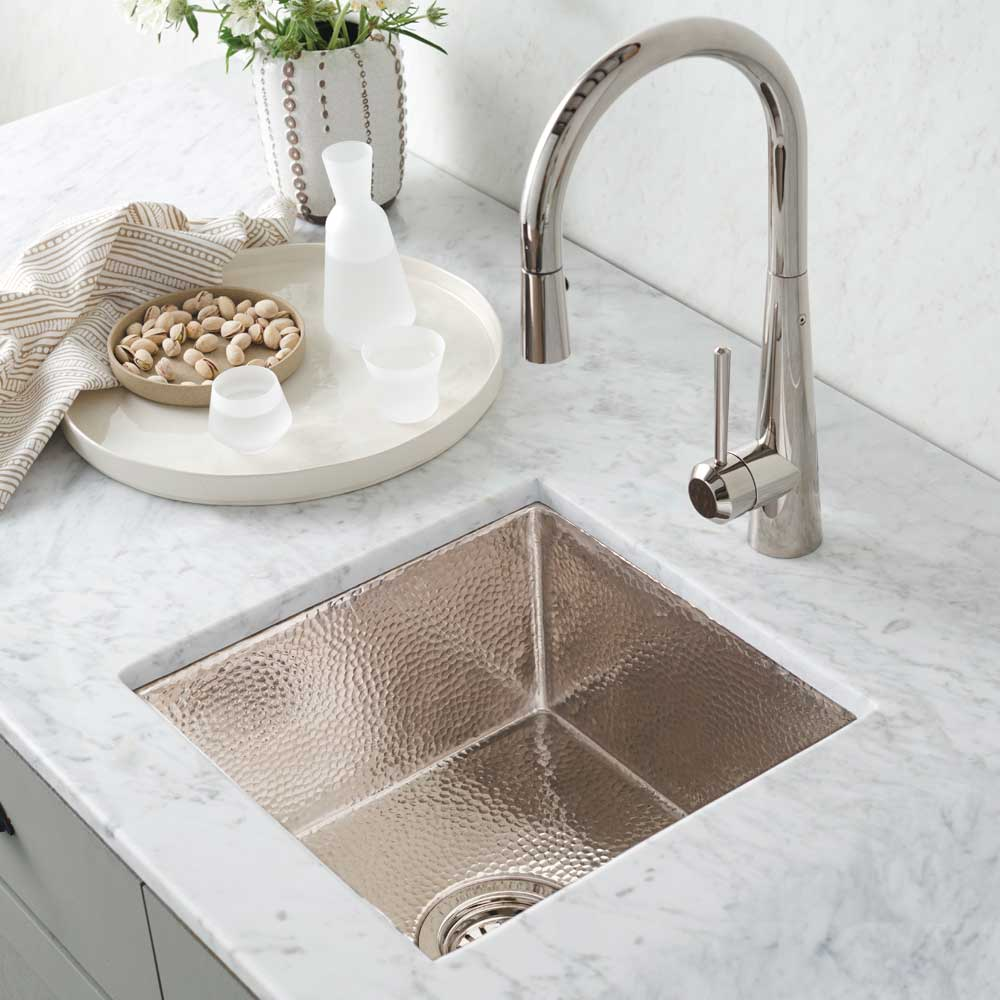 Cantina Copper Bar & Prep Sink in Polished Nickel (CPS834)