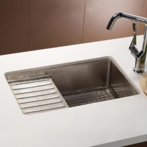 Cantina Pro Copper Bar & Prep Sink in Brushed Nickel (CPS533)