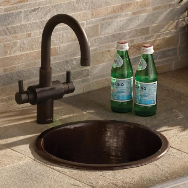 Diego Copper Bar & Prep Sink in Antique (CPS235)