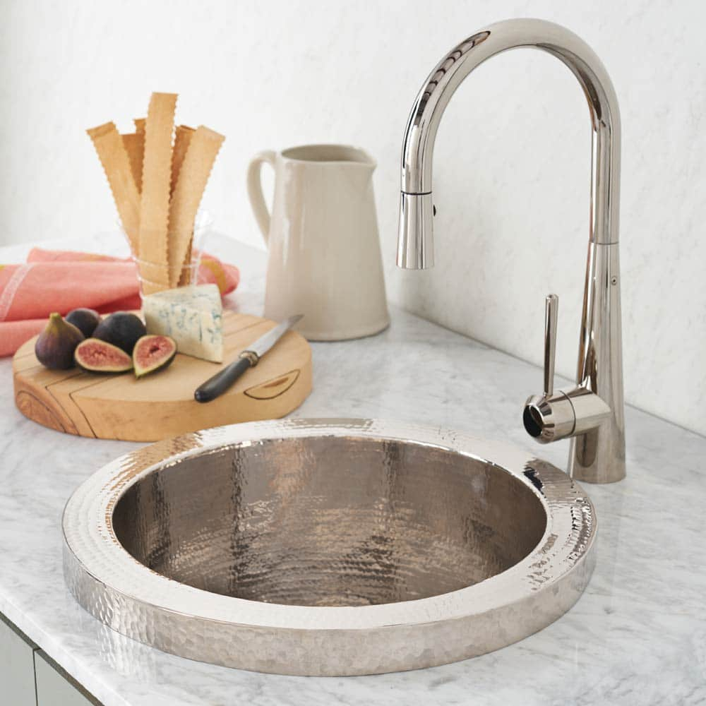 Mojito Copper Bar & Prep Sink in Polished Nickel (CPS816)