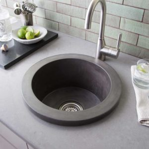 Olivos Concrete Bar & Prep Sink in Slate (NSB1607-S)