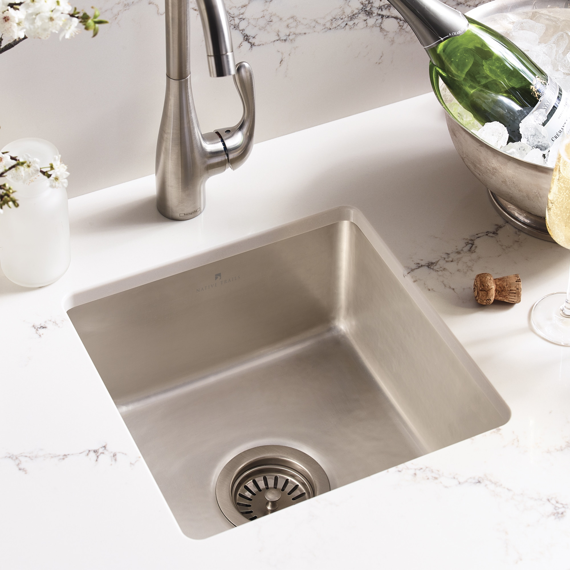 Reveler Fireclay Bar & Prep Sink in Silver (PMB1515-S)
