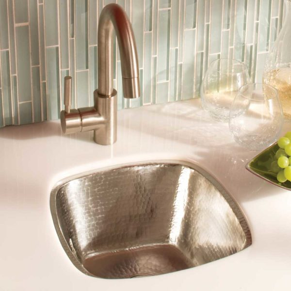 Rincon Copper Bar & Prep Sink in Brushed Nickel (CPS547)