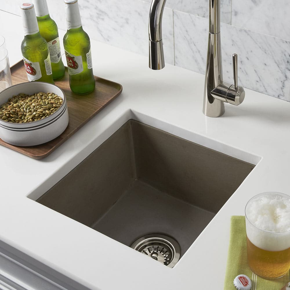 Ventana Concrete Bar & Prep Sink in Earth (NSB1515-E)