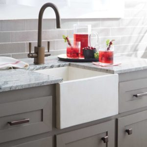 Ventana Concrete Bar Prep Sink in Pearl (NSB1515-P)