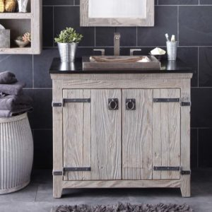 Americana 36in Wood Vanity Base in Driftwood (VNB369)