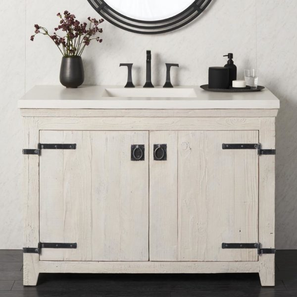Americana 48in Wood Vanity Base in Whitewash (VNB480)