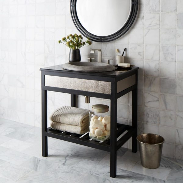 Cuzco 30in Steel Vanity Base in Brushed Nickel (VNR305)
