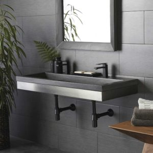 Zaca 48in Wall Mount (VNS48S) with Slate Trough (NSL4819-S)