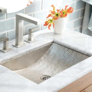 Avila Copper Bathroom Sink in Brushed Nickel (CPS545)