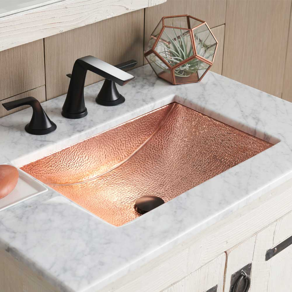 Avila 21 Inch Copper Bathroom Sink Native Trails