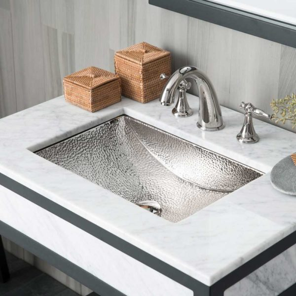 Avila Copper Bathroom Sink in Polished Nickel (CPS845)
