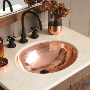 Classic Copper Bathroom Sink in Polished Copper (CPS468)