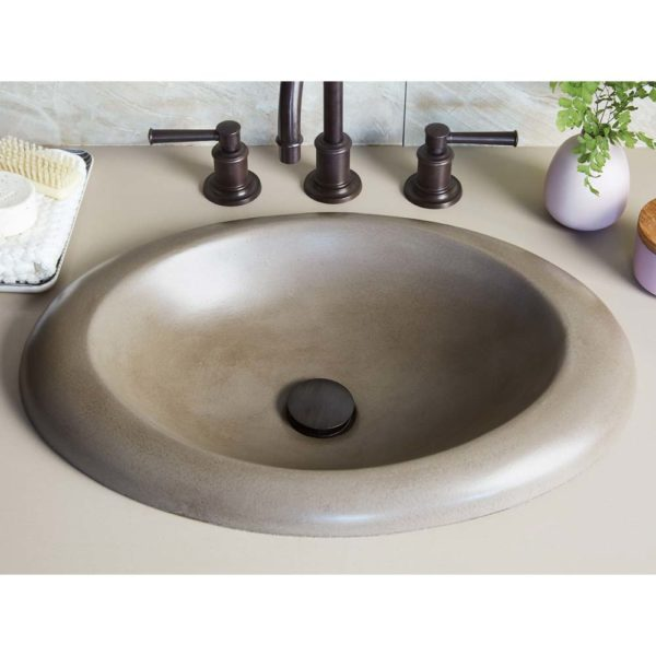 Cuyama Concrete Bathroom Sink in Earth (NSL2115-E)