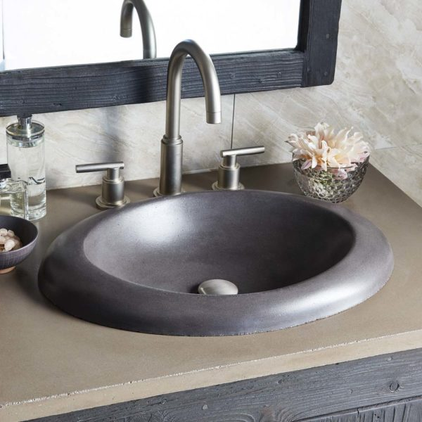 Cuyama Concrete Bathroom Sink in Slate (NSL2115-S)