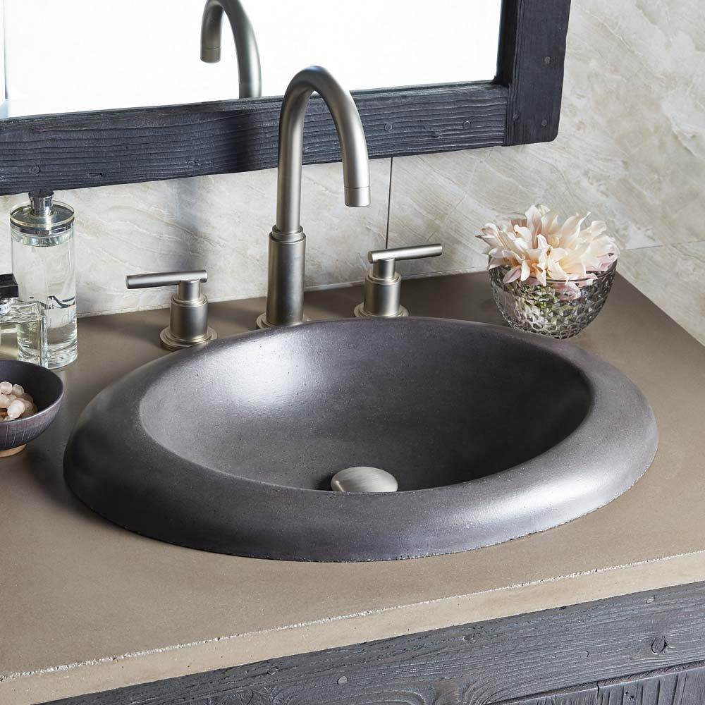 Cuyama Concrete Drop In Bathroom Sink Native Trails