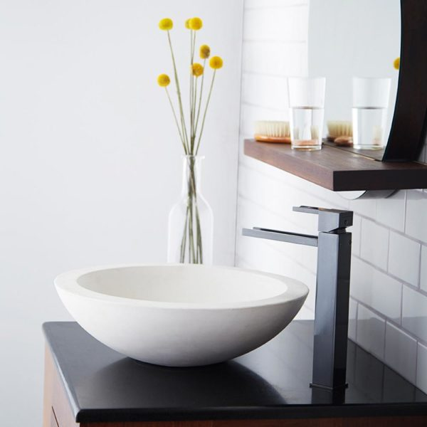 Morro Concrete Bathroom Sink in Pearl (NSL1705-P)