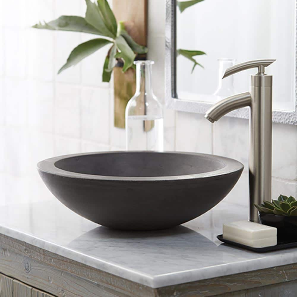 Morro Concrete Bathroom Sink in Slate (NSL1705-S)